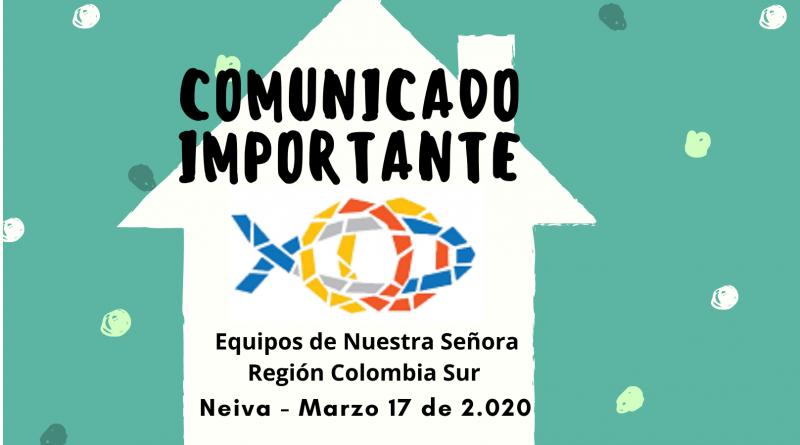 Comunicado Marzo 17-2.020